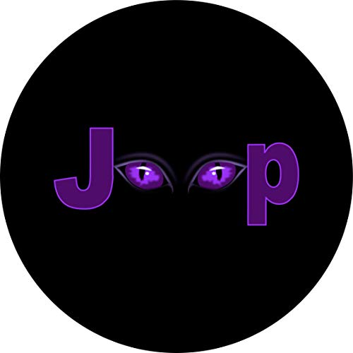 Tire Cover Central Purple Eyes Spare Tire Cover for 255/75R17 Jeep RV Camper Trailer(Drop Down Size menu