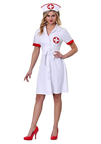 Women's Stitch Me Up Nurse Plus Size Costume 1X White