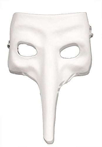 RedSkyTrader Mens Plain Paper Mache Zanni Craft Mask One Size Fits Most -