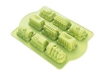 Molde de la torta - molde para vagones de tren - 100% silicona - placa de 350 x 245 mm: Amazon.es: Hogar