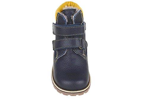 MUKAVA SH BLAUGELB Boots Schleicher Lammfellfutter