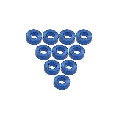 3RACING Integy RC Model Hop-ups 3RAC-WF320/BU Aluminium M3 Flat Washer 2.0mm (10 Pcs) - Blue