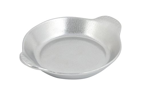 Bon Chef 5019PG Aluminum/Pewter Glo Shirred Egg Au Gratin Dish, Large Round, 16 oz Capacity, 8-1/4