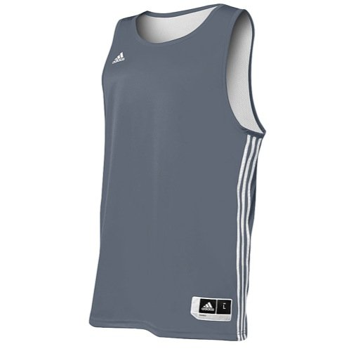 Adidas Mens Reversible Basketball Practice Jersey XL Lead/White Adidas Reversible Mesh Jersey