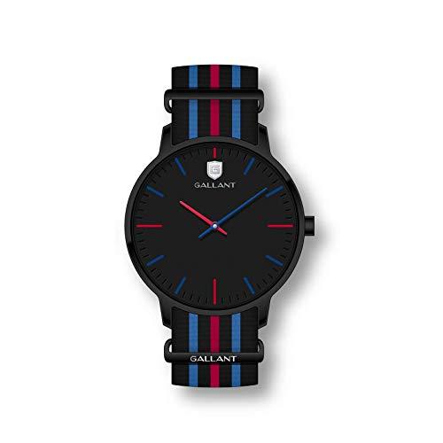 Men Wrist Watch, Gallant Quartz Watch Analog Minimalist Watches with NATO Strap Nylon Band Waterproof Wristwatch Reloj Hombre for Birthday Business Gift