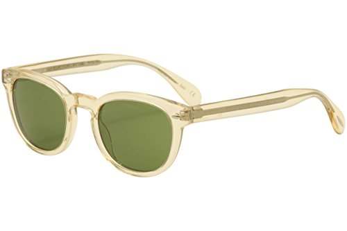 Oliver Peoples Unisex Sheldrake Sun Buff/Green Vintage Sunglasses (Peoples Sunglasses Oliver)