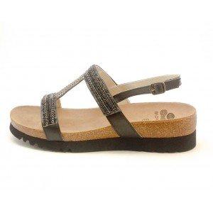 9ed364681c5 Scholl Size 38 Black Bioprint Laba Women s Sandals  Amazon.co.uk ...