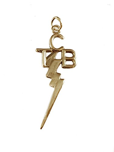 Elvis Presley 14k Kart Gold TCB Pendant Taking Care of Business by SILVERLAND1