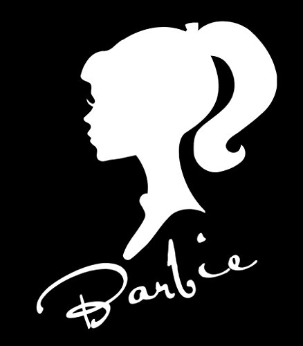Barbie Silhouette Decal Vinyl Sticker|Cars Trucks Vans Walls Laptop| White |5.5 x 4.25 in|CCI1092