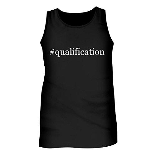 #qualification - Men's Hashtag Adult Tank Top, Black, X-Large
