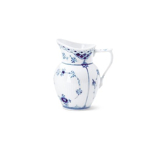 Royal Copenhagen Blue Fluted Half Lace Creamer by Royal Copenhagen