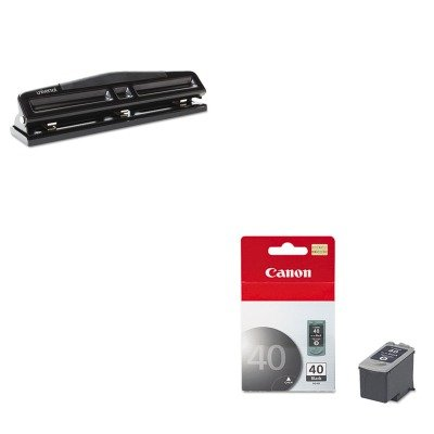 KITCNMPG40UNV74323 - Value Kit - Canon PG40 PG-40 Ink Tank (CNMPG40) and Universal 12-Sheet Deluxe Two- and Three-Hole Adjustable Punch ()