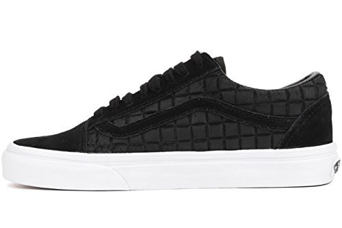 Vans Herren Old Skool Suede Checkers Trainer, Schwarz (suede checkers) black