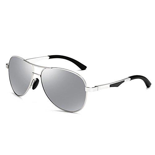06 Original Retro Protección Unisex UV Vintage de Gafas sol 03 Espejo Lente ZHIRONG Gafas polarizadas 400 Color wUqaWSX