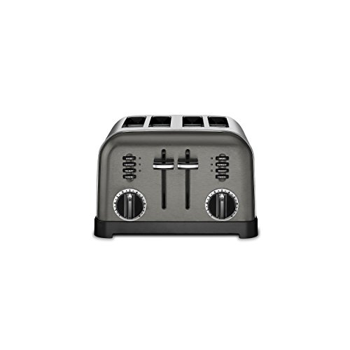 Cuisinart CPT-180BKS Metal Classic Toaster, 4-Slice, Black Stainless (Four Slot)