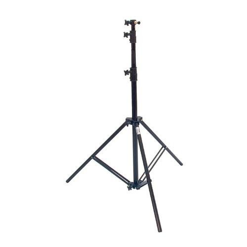 Savage 13' Four-Section Heavy Duty Air-Cushioned Light Stand, 4 Section with 3 Risers, Black (Savage Light Stands)