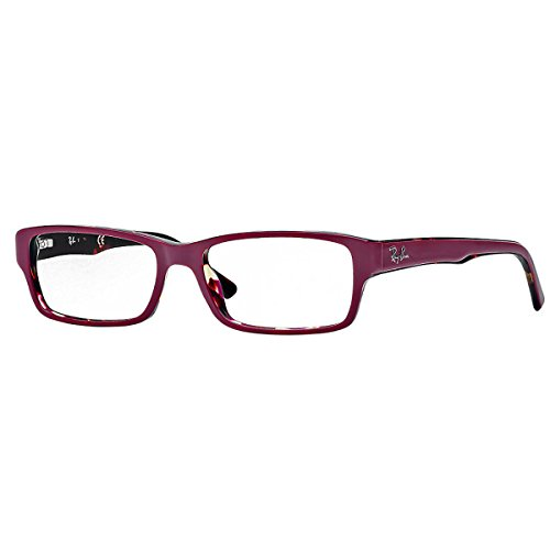 New Ray Ban RB RX 5169 2034 Black Crystal Frame Plastic lunettes 5236: Red On Tortoise