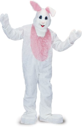 Rubie's Costume Adult Easter Bunny Costume, White, One Size