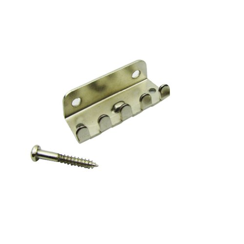 Musiclily Single Tremolo Spring Claw w/Screws Set for Fender Strat ST Stratocaster Guitar Replacement, Chrome Nickel