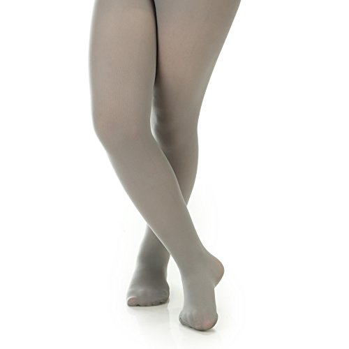 Silky Toes Women's Opaque Microfiber Comfort Tights- 2 Per Pack (Small (B), Light Grey)