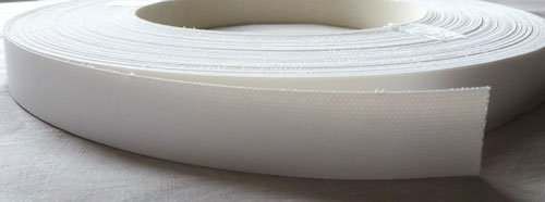 Pre Glued Iron on White Gloss Melamine Edging Tape, 22mm x 10metres *Free Postage, Fast Dispatch* Edgeband