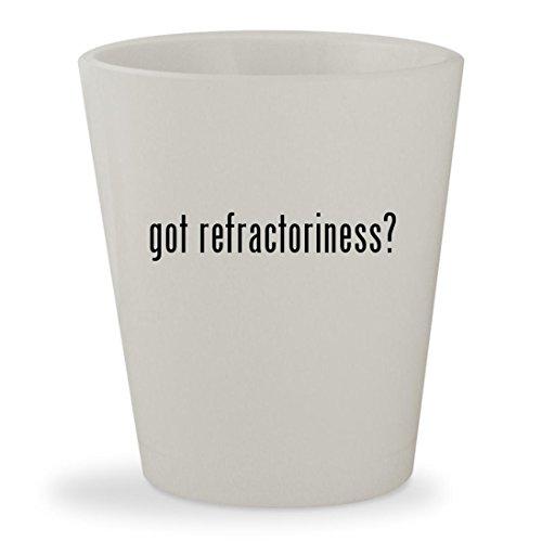 got refractoriness? - White Ceramic 1.5oz Shot Glass (Kit Refractory Liner Brick)