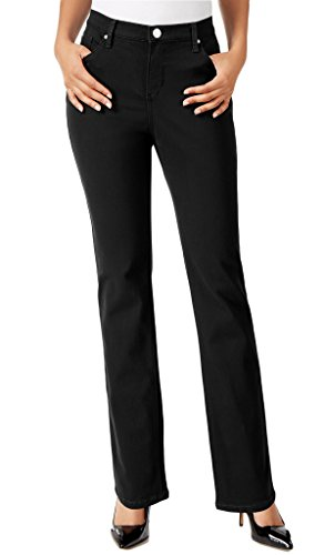 LEE Ladies Platinum Label Gwen Stretch Jean, Black, Size 12S ()