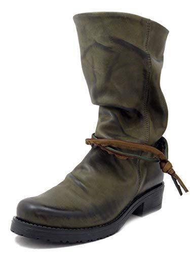 Stivali Morbidi Muschio In Al Basso Tacco Donna Polpaccio 3 Cm Verde Pelle Ar5qA