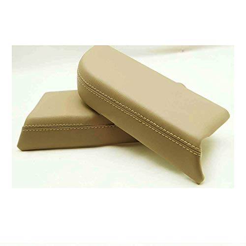 (DSparts Replaces Door Panel Armrest Synthethic Leather Cover for Honda Pilot 09-13 Leather Part Only Beige)