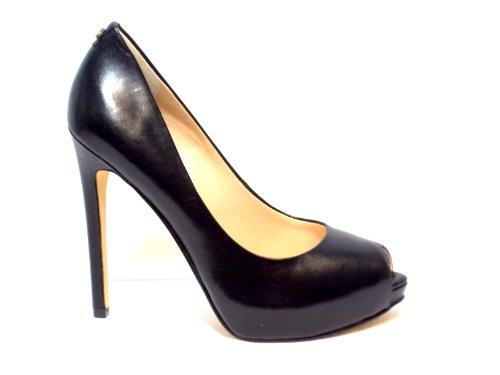 Zapatos 11 cm Toe Tacon Ansina Mujer Leather Black 1 Black Guess Spuntata Escisiòn cm Open Plat TXqnfwwz5x