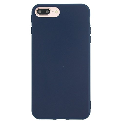 Danbey Matte Case for iPhone 8 Plus, iPhone 7 Plus, 5.5 inches, Matte Surface Slim Cover, Charming Colorful, Skin Feeling, 1.5mm Thick Flexible TPU (Matte-Navy Blue)