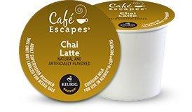 Cafe Escapes Chai Latte K-Cups, 24/Box (Chai Latte Tea Kcup)