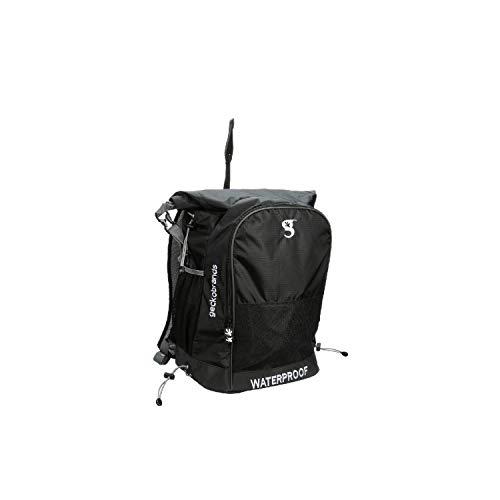 geckobrands Waterproof All Sports Backpack- Black Grey