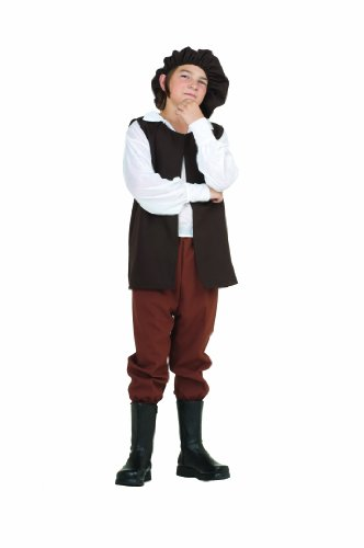 Peasant Costume (RG Costumes Renaissance Boy Costume, Brown/White, Large)