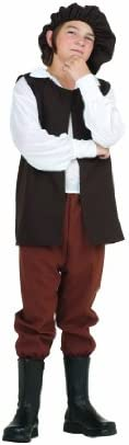 RG Costumes Renaissance Boy Costume, Brown/White, Large
