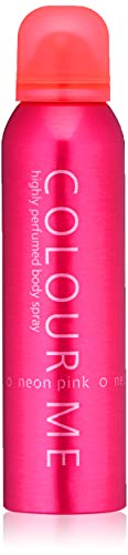 Colour Me   Neon Pink   Body Spray Mist   Womens Fragrance   Oriental Floral Woody Scent   5.1 oz ()