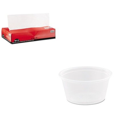 KITBCP011010DRC200PC - Value Kit - Packaging Dynamics QF10 Interfolded Dry Wax Paper (BCP011010) and Dart Conex Complements Portion/Medicine Cups (DRC200PC)