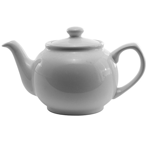 Service Ideas TPCE16WH Teapot, Ceramic, 16 oz., White