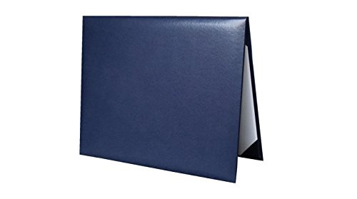 Diploma Cover Holoder Smooth 6x8 Certificate Cover Grad Days Navy Blue ()