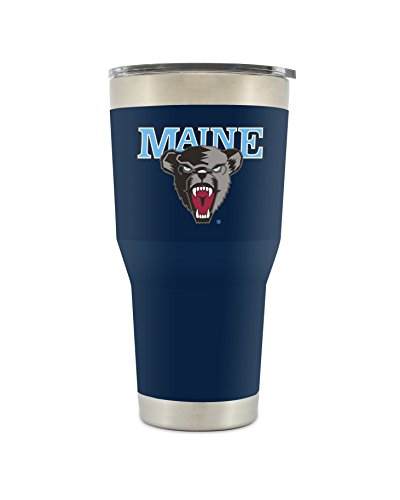 Simple Modern Maine University 30oz Cruiser Tumbler - Vacuum Insulated Stainless Steel Travel Mug - Black Bears Tailgating College Flask - University Color