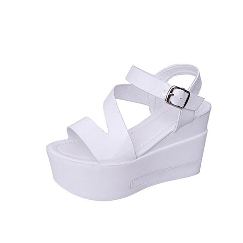 Button Cufflinks One White Sandals Ladies' 4qYTFF