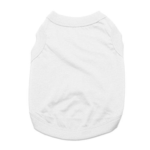 White Dog Tank (Barking Basics Dog Tank Shirt, 3X-Large, White)