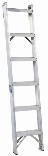 Louisville Ladder AH1005 300-Pound Duty Rating Aluminum Shelf Ladder, 5-Foot by Louisville Ladder