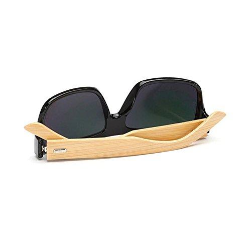 de Frame Summer New UV Natural Eyewear Black Bamboo soleil Frame Lunettes Unisex Vintage Anti Wooden Meijunter Red Sunglasses z8w7Aqq