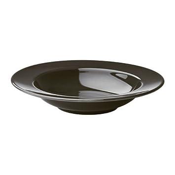 revendeur ba707 d3557 IKEA vardagen Assiette creuse en gris foncé ; en grès ; (23 ...