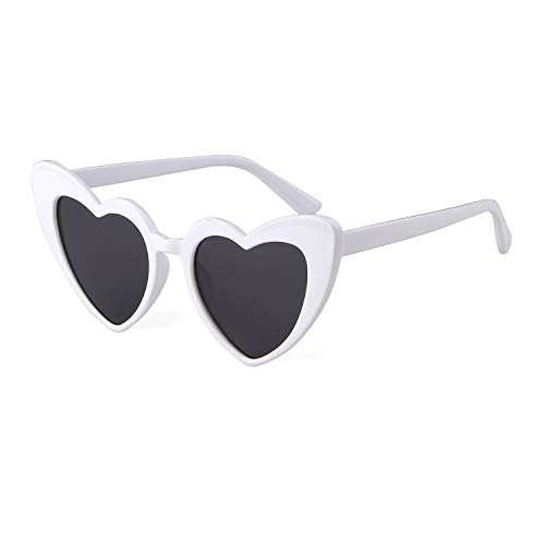 Clout Goggle Heart Sunglasses Vintage Cat Eye Mod Style Retro Kurt Cobain Glasses ()