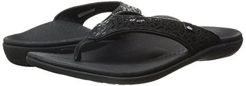 Sandal Black Spenco Women's Cheetah Yumi w6Waqt
