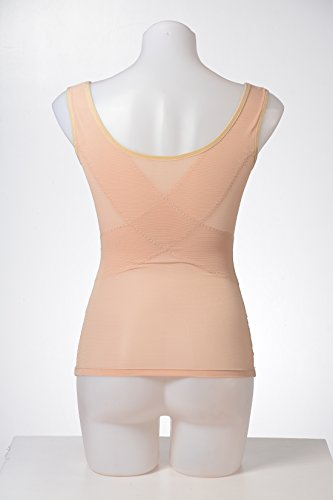 Slimming Shapewear Tank Tops Body Shaper Camisole for Tummy Waist Bust and Hips, Nude, 3XL by DODOING (Image #7)
