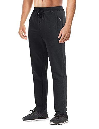 MAGNIVIT Men's Causal Cotton Open Bottom Sweatpants Athletic Lightweight Pants