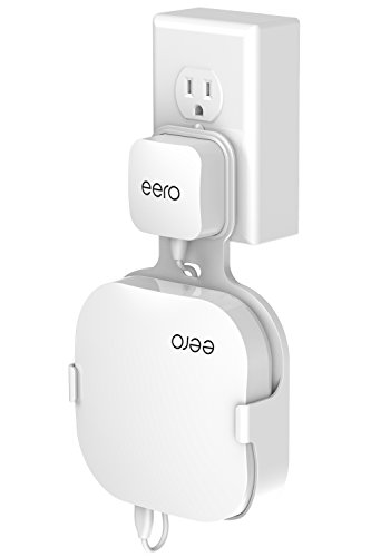Wall Mount Holder for eero Home WiFi, The Simplest Wall Mount Holder Stand Bracket for eero Pro WiFi System Router No Messy Screws! (White(1 Pack))